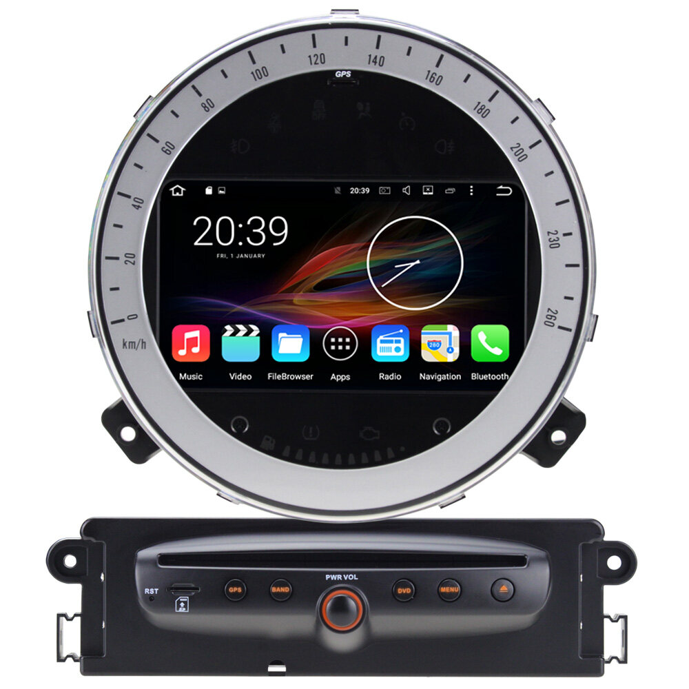 7 android autoradio car multimedia stereo gps navigation dvd radio audio head unit mini cooper. Black Bedroom Furniture Sets. Home Design Ideas