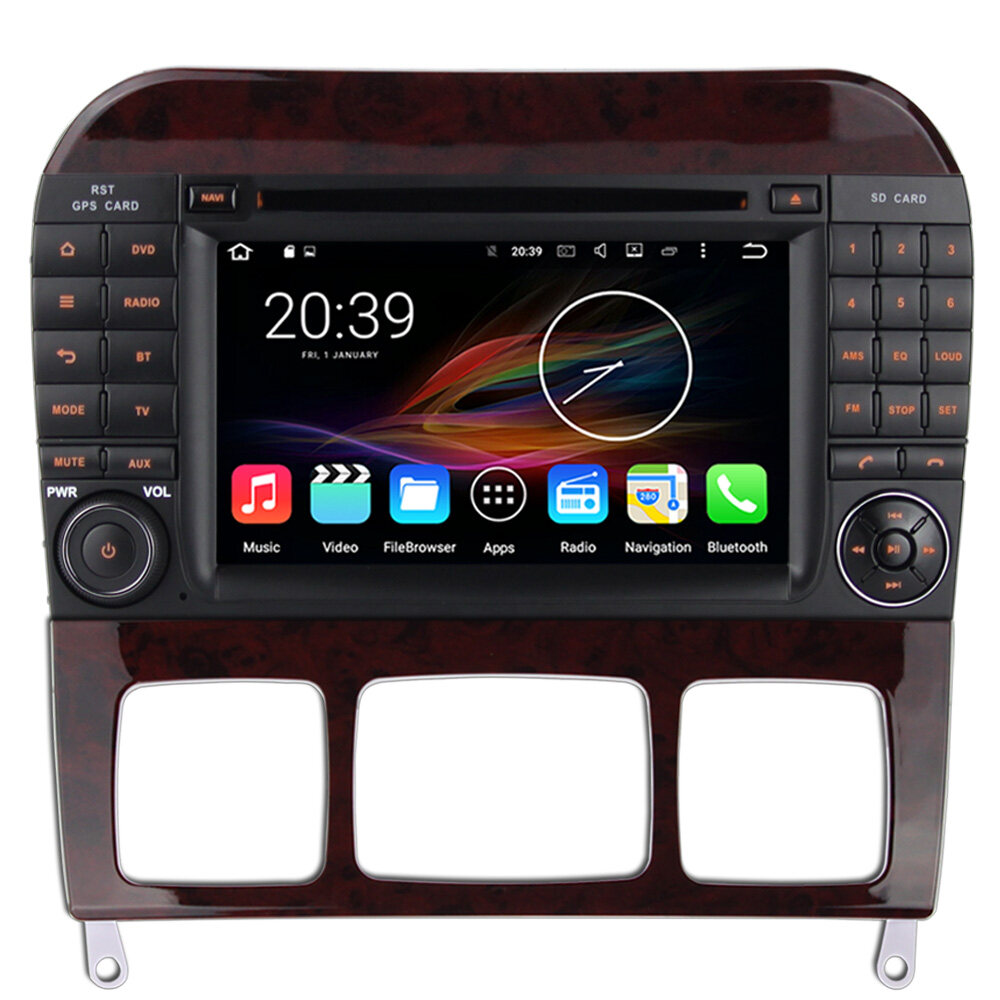 7 android autoradio car stereo audio head unit mercedes. Black Bedroom Furniture Sets. Home Design Ideas