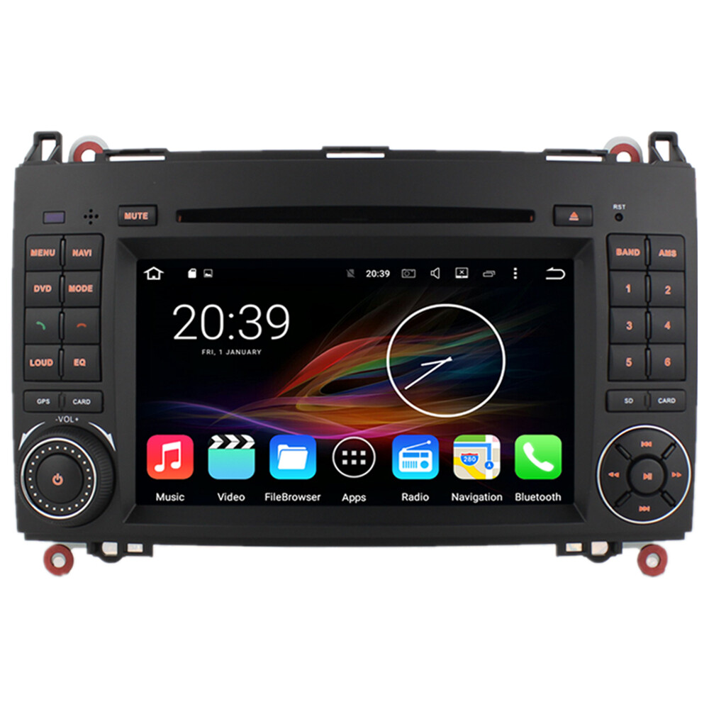 7 android autoradio car stereo gps head unit mercedes. Black Bedroom Furniture Sets. Home Design Ideas