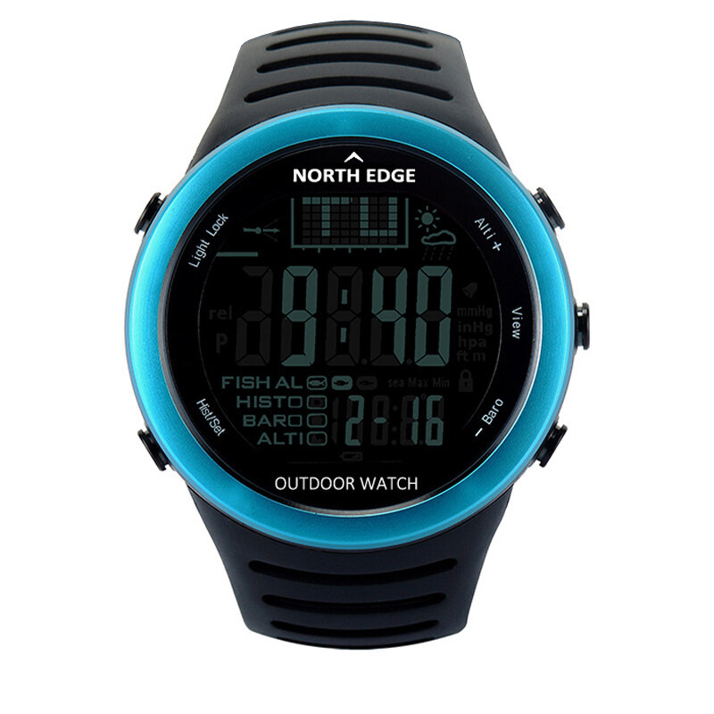 Fishing watch with altimeter barometer temperature north for Barometric pressure forecast for fishing