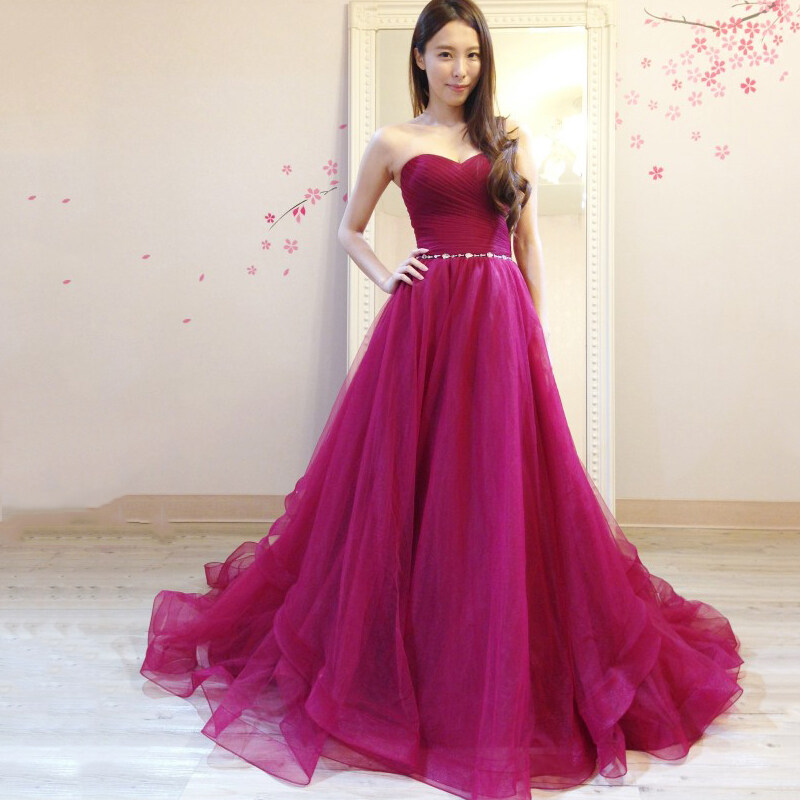 WD12 Tulle Evening Dresses 2017 Vestido De Festa Longo Women Formal ...