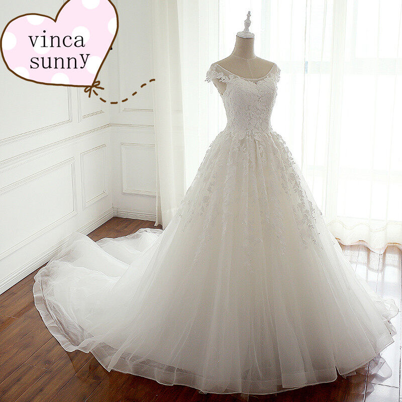 WD24 Vintage Lace Princess Wedding Dress Ball Gown Wedding Dress ...