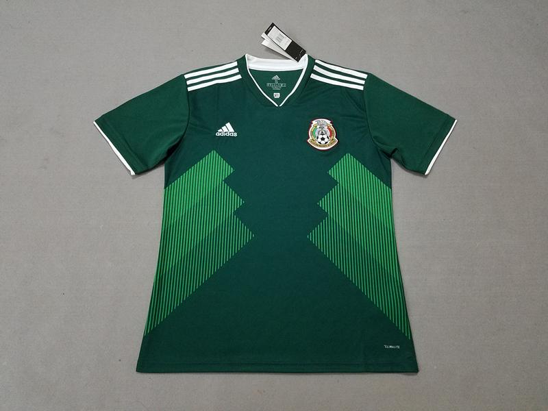4c1a5a308 M. LAYUN 7 Mexico Home Green 2018 World Cup Football Shirts Fan Version