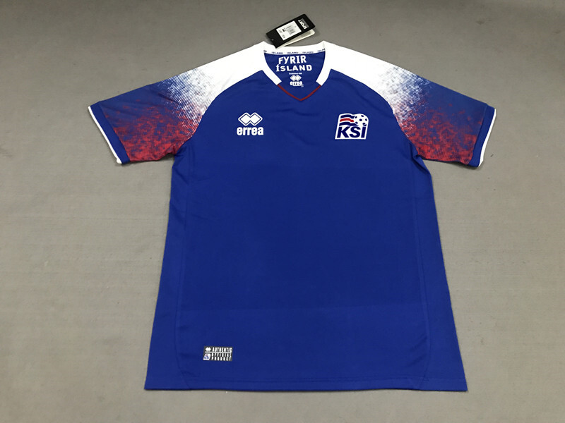 278c5f74d Iceland Home Blue 2018 World Cup Soccer Jersey