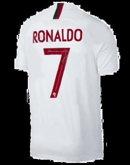 2488a88f RONALDO 7 World Cup 2018 Portugal Away White Soccer Jerseys Fan Version
