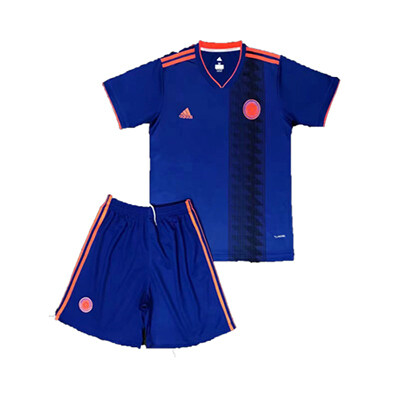 a493a741352 2018 World Cup Colombia Away Blue Kids Soccer Jerseys