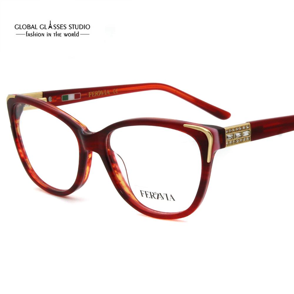Hand Made Acetate Eyeglass Frames Fashion Lady New Designer Eyewear ...