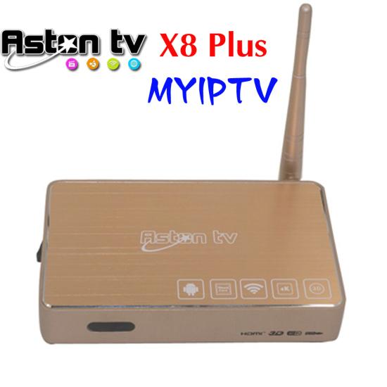 Android TV Box Aston X8 Plus With MYIPTV Service 190+
