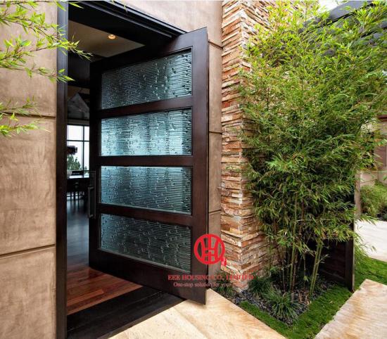 Pivot Entry Glass Doors Modern Glass Door For Sale