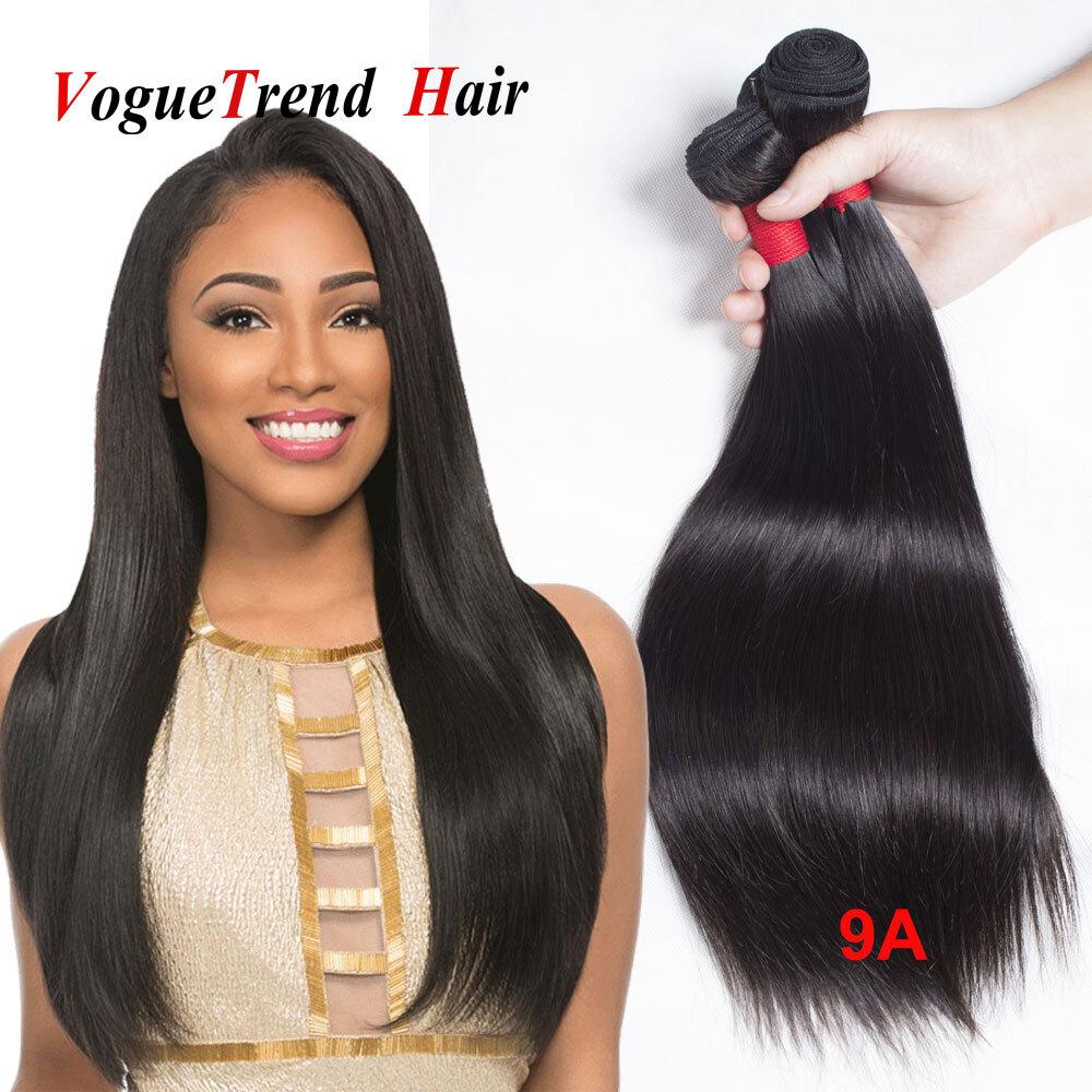 Voguetrend Hair Peruvian Straight Hair Bundles 9a Human Hair Weave 8
