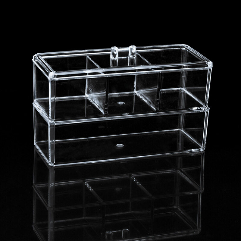 High Quality Clear Plastic Acrylic Makeup Desktop Storage Cases Cosmetic  Stand Organizer Box Transparent