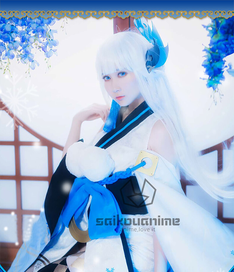 Onmyoji Snow Girl Yuki Onna Cosplay Costume