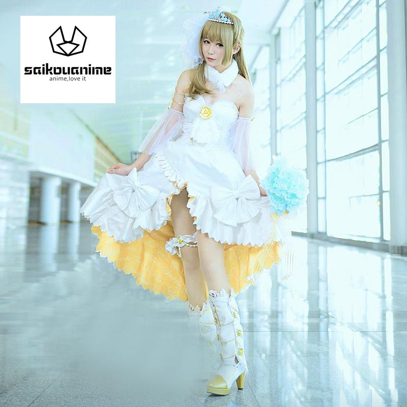 lovelive!Wedding dress Minami Kotori Cosplay Costume