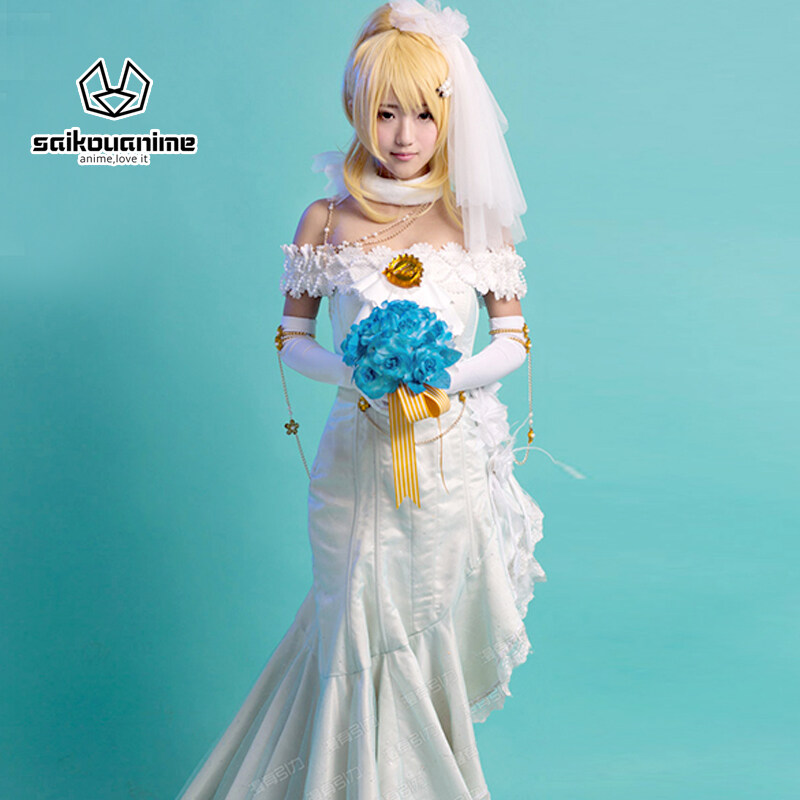 lovelive!Wedding dress Ayase Eli Cosplay Costume