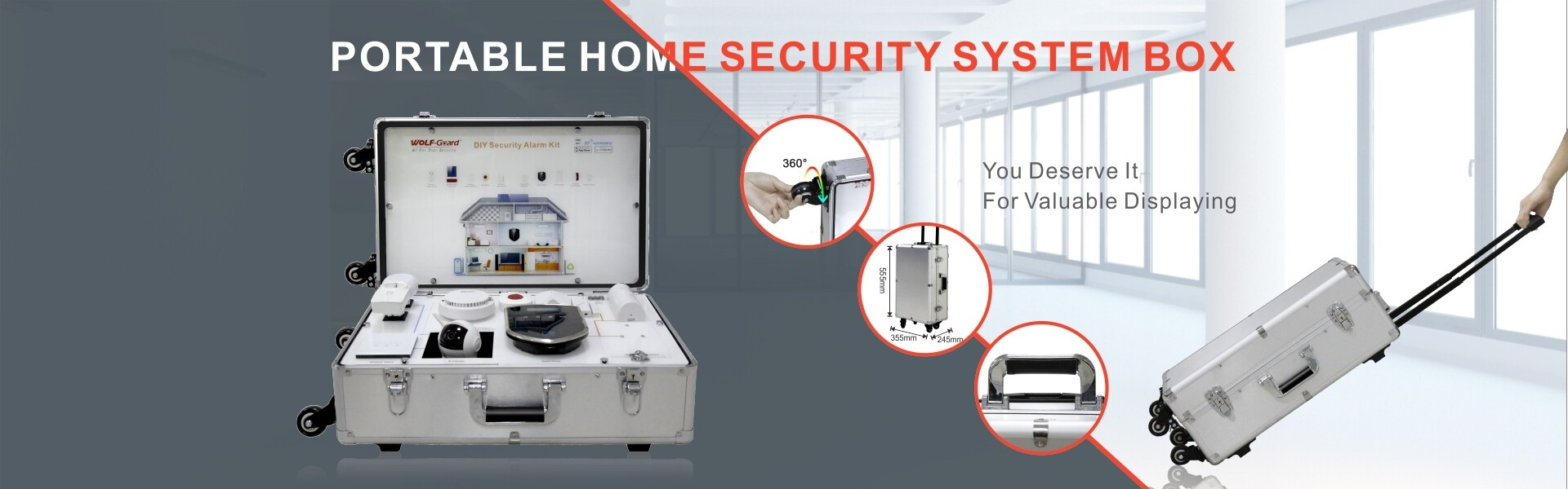 Portable Home Security Alarm System Demo Kit