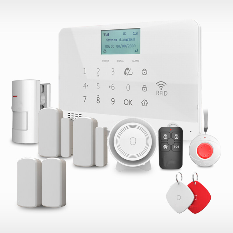 DIY GSM SMS IOS Android App Control Support RFID Security Alarm System,  Wolf-Guard, MR1 Kit03
