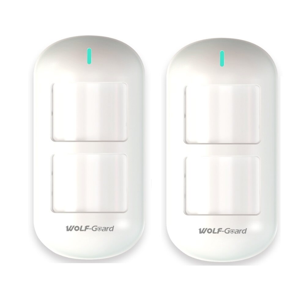 2 X Wireless Pet Immune PIR Motion Detector For Home Security Alarm System  433MHz, Wolf Guard, #HW 06D