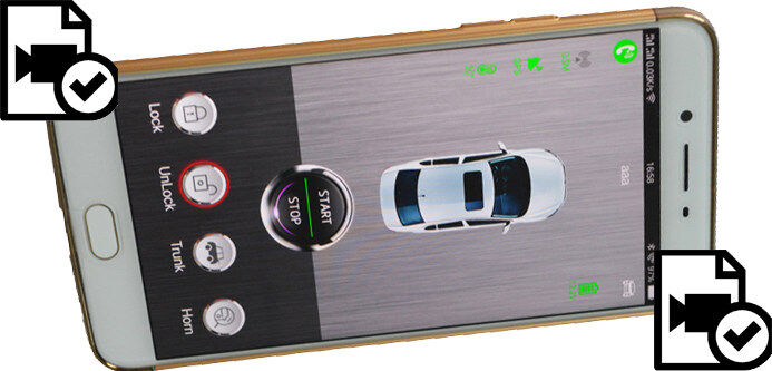 More cardot smart car alarm working and operation videos