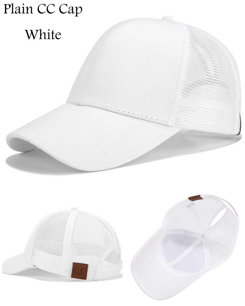 f088ddfd 2018 CC Glitter Ponytail Baseball Cap Women Snapback Hat Summer Messy Bun  Mesh Hats Casual Adjustable Sport Caps