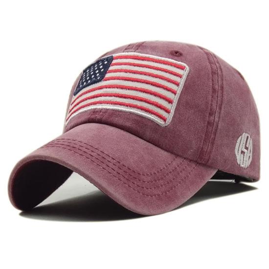 11fffc0d528 USA Flag Cap Fashion Baseball Cap Casual Snapback Trucker Hat Washed Cotton  Hats ...