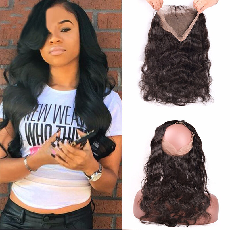 360 Lace Frontal Peruvian Body Wave Hair Closure Natural Color 100 Non Remy Human Hair 10 20 inch Free Shipping 1516783551281 0.jpg 9b539c284
