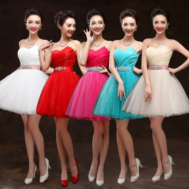 Bridal Short Paragraph Wedding Dress Banquet Sweet