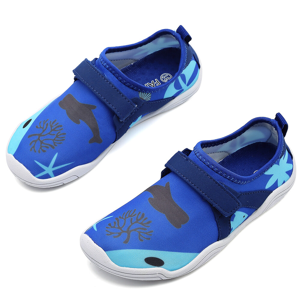 c60862ad CIOR FANTINY Boys & Girls Water Shoes Lightweight Comfort Sole Easy Walking  Athletic Slip On Aqua Sock.DKSX-blue01