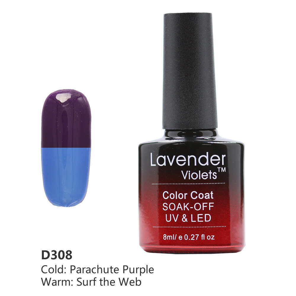 Lavender Violets 8ml Color Changing UV LED Soak Off Gel Nail Polish