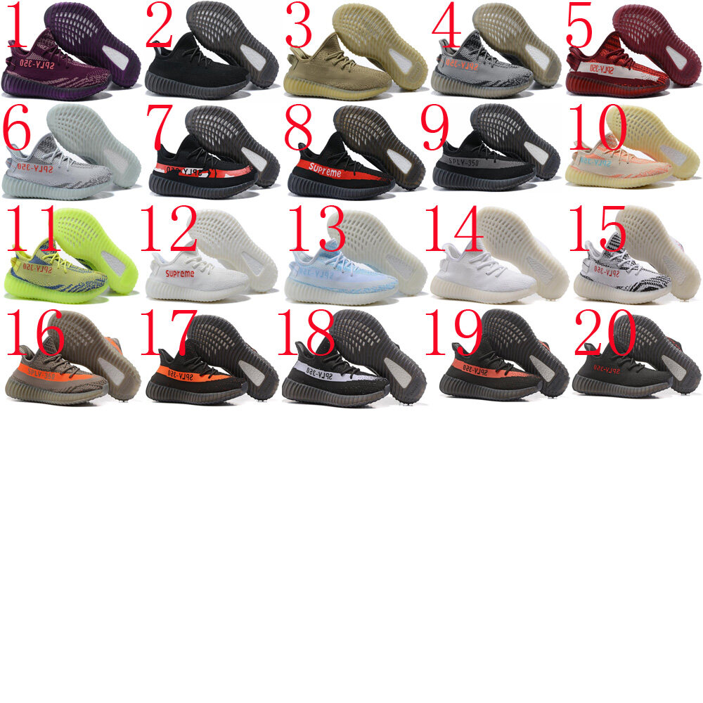 57308963cfa34 2018 57 Yeezy 350 20 colors sports shoes sneakers running shoes hotsale Men  women shoes Female Male Size Euro 36-45