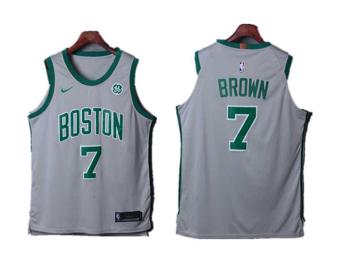 wholesale dealer 28416 a31c2 2019 Boston Celtics #7 Jaylen Brown Basketball Jerseys White Black Green  City Stitched Celtics Jerseys