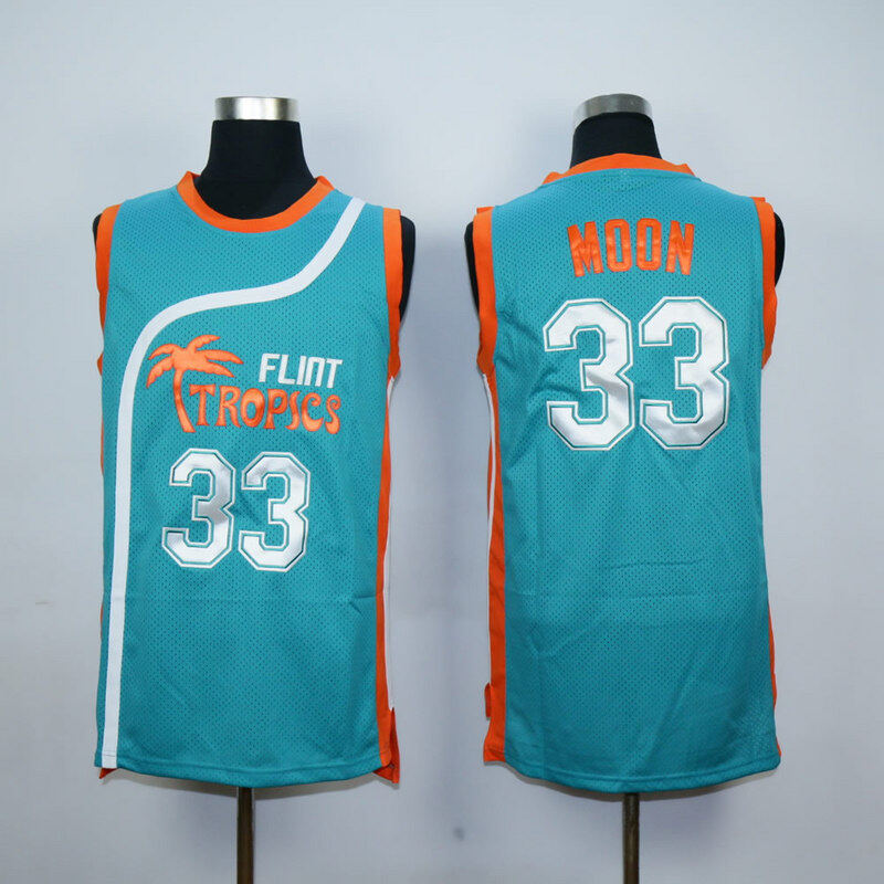 Semi Pro Flint Tropics Jackie Moon 33  Coffee Black 7  Ed Monix 11  Downtown   69 Throwback basketball jerseys 4d23a1074