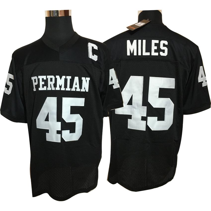 Boobie Miles 45 Friday Night Lights Football Jersey Permian White Black e8e4e81a9