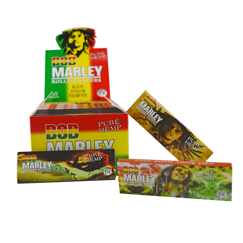bob marley pure hemp 1 1 4 rolling papers with natural gum for sale