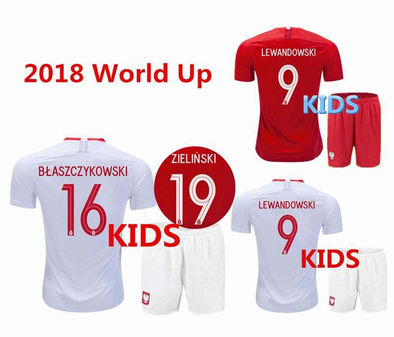 23dcb9b8401 ... greece 2018 wholesale world cup poland home 3rd away kids kit soccer  jerseys kid children football