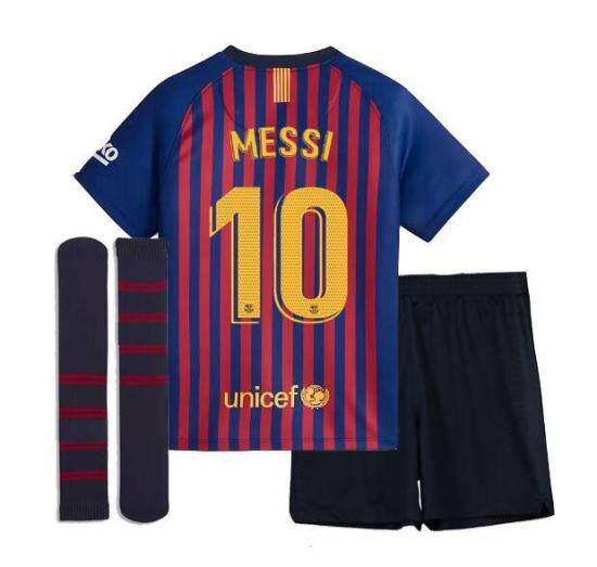 2018 19 wholesale Barcelona home 3rd away SUAREZ MESSI O.DEMBELE 18 19 kids  kit soccer Jerseys Camiseta ... 4622af05f42da