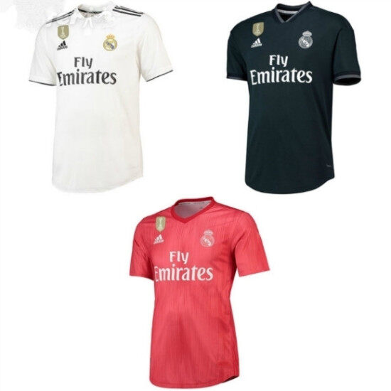 32e79140a 2018 19 wholesale Real Madrid home 3rd away BALE Benzema ASENSIO isco bale  Camiseta soccer Jerseys ...
