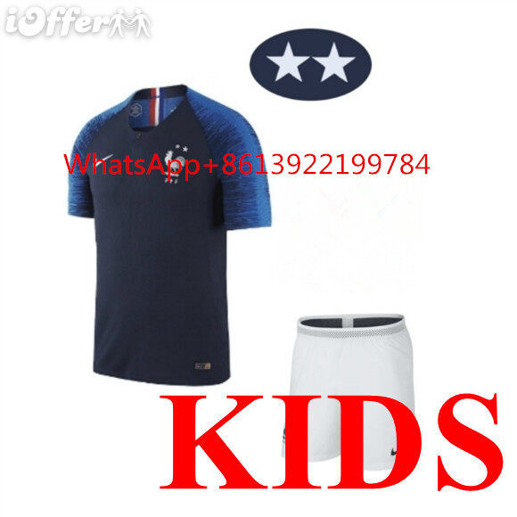 reputable site a7231 04c9b 2 Star France national team jersey 2018 France jersey kids kit home away  MBAPPE POGBA soccer Jerseys maillot de foot