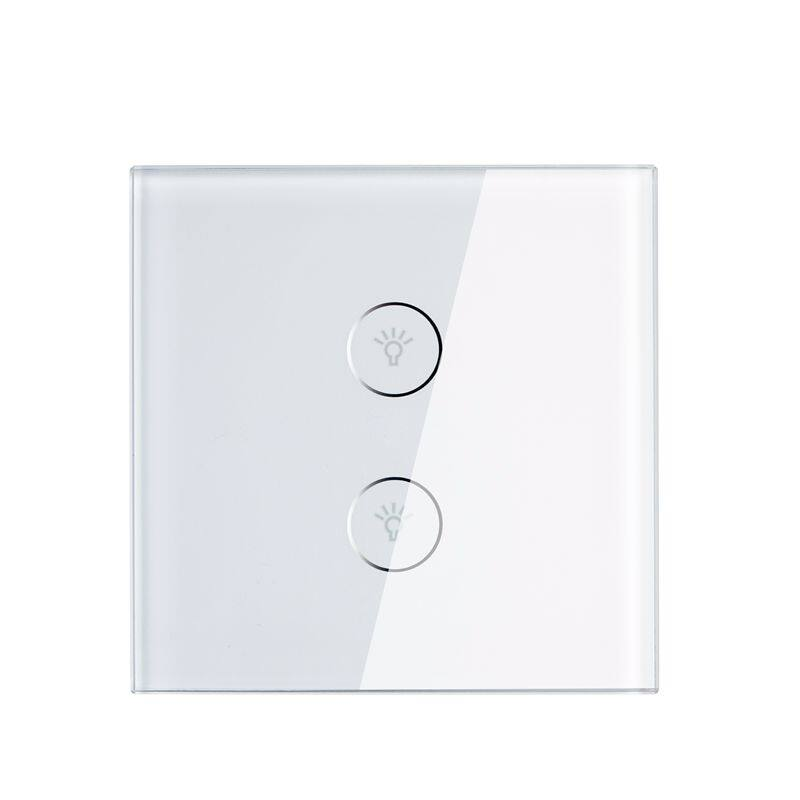 2 gang wifi smart switch home automation control touch wall light 2 gang wifi smart switch home automation control touch wall light switch for led lighting aloadofball Choice Image