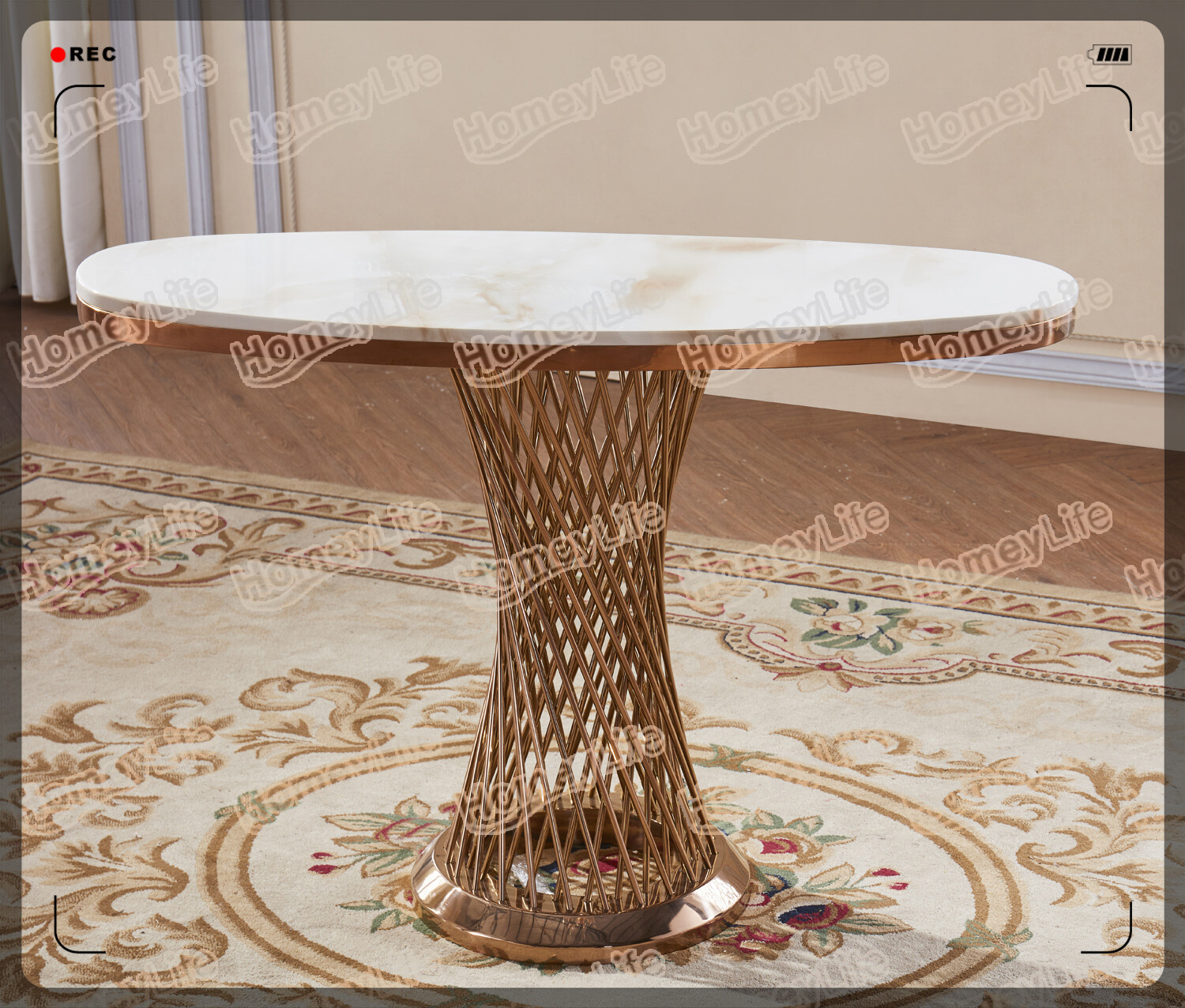 modern luxury stainless steel leg marble top console table