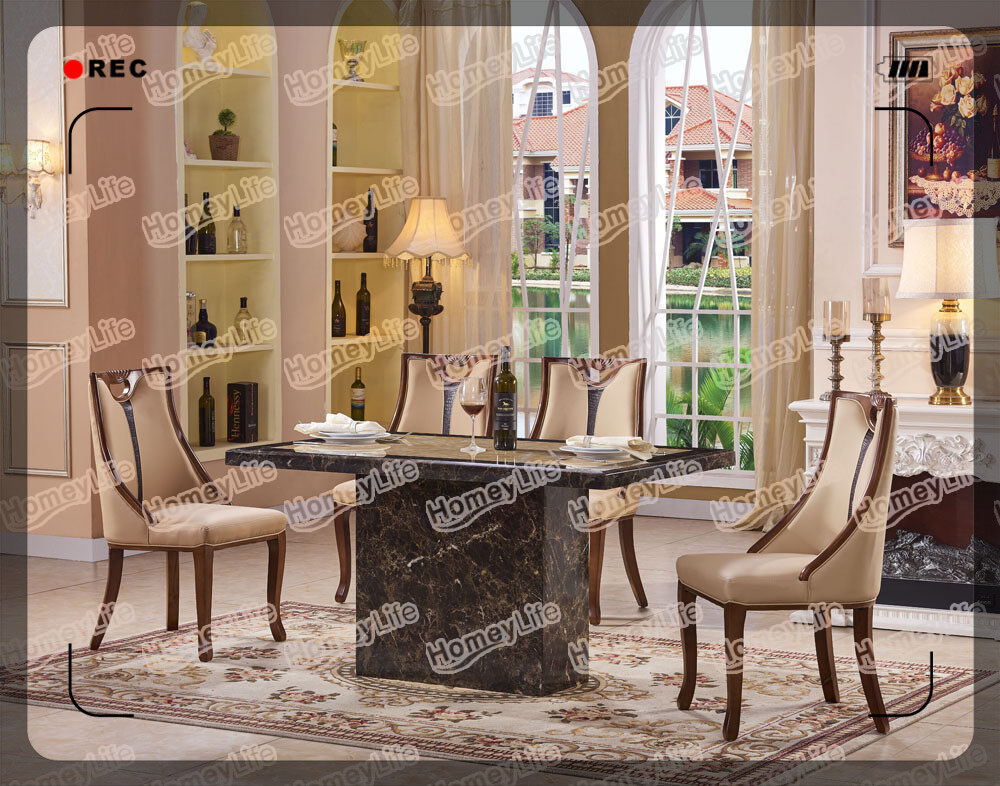 Rectangular Square Marble Dining Table Size Full HT15#