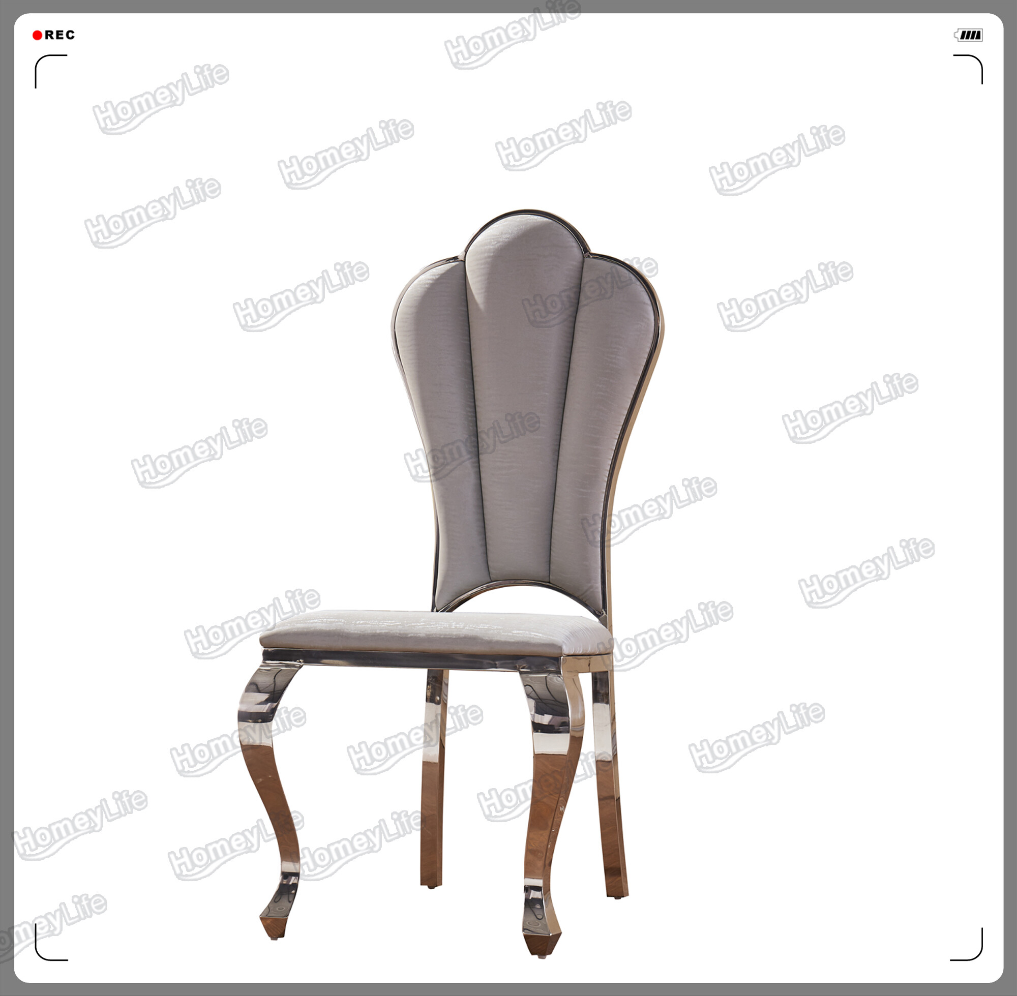 Stainless steel frame with PU leather cushion dining chair HC16#