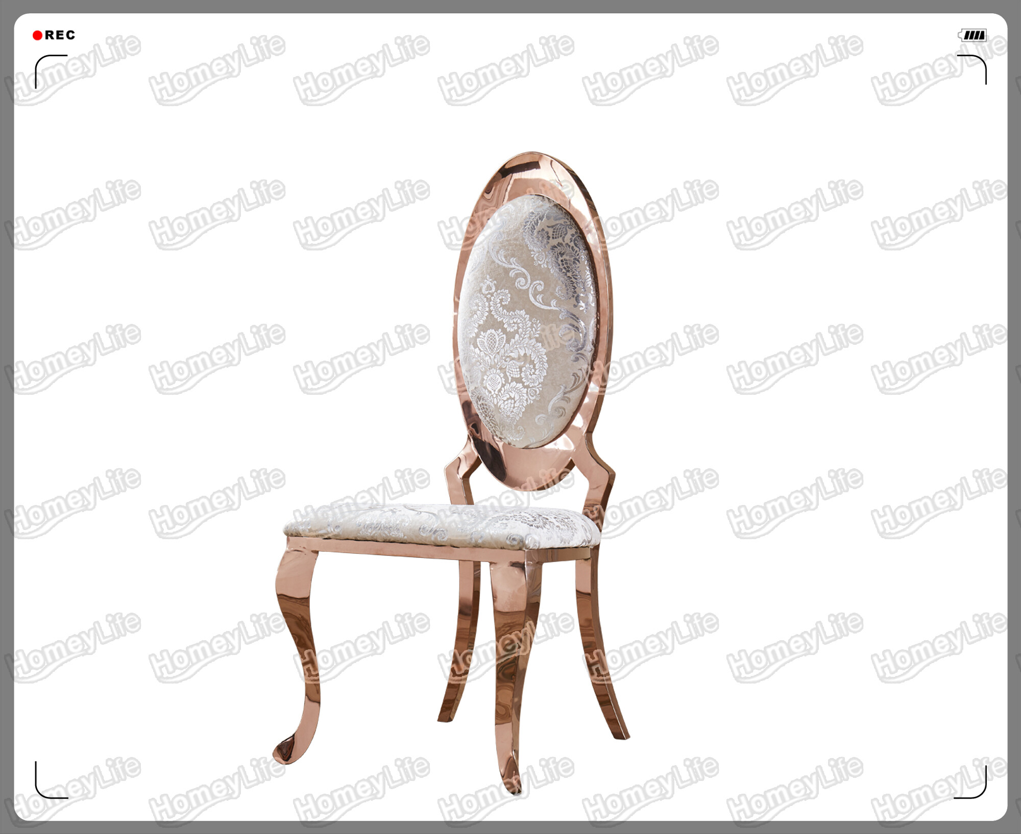 Stainless steel frame with PU leather cushion dining chair HC26#