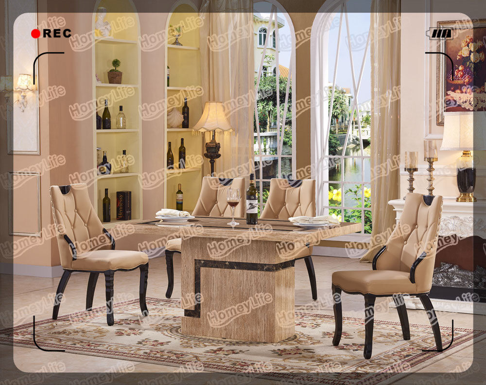 Wonderfull Design 6 Seater Marble Dining Table