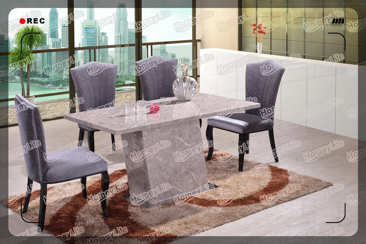 competitive price rectangular top marble dining table