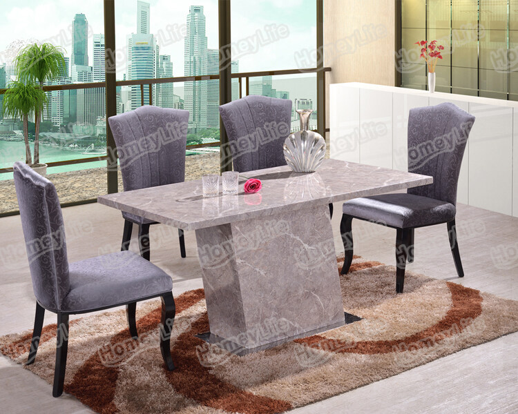 Competitive Price Rectangular Square Marble Dining Table Ht03