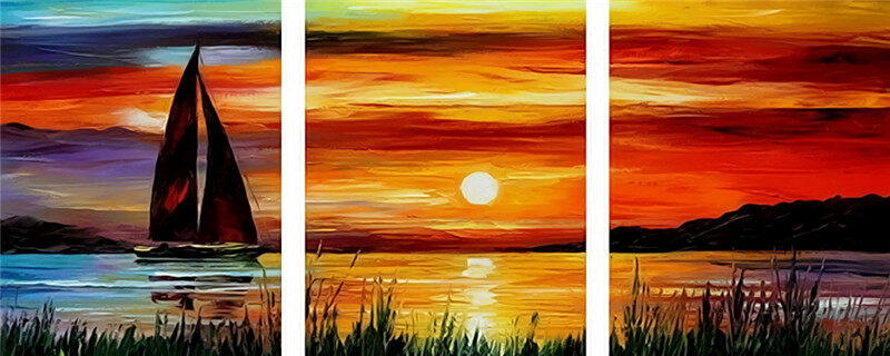 Paint By Numbers For Adults 3 Piece Pack Panel Sunset