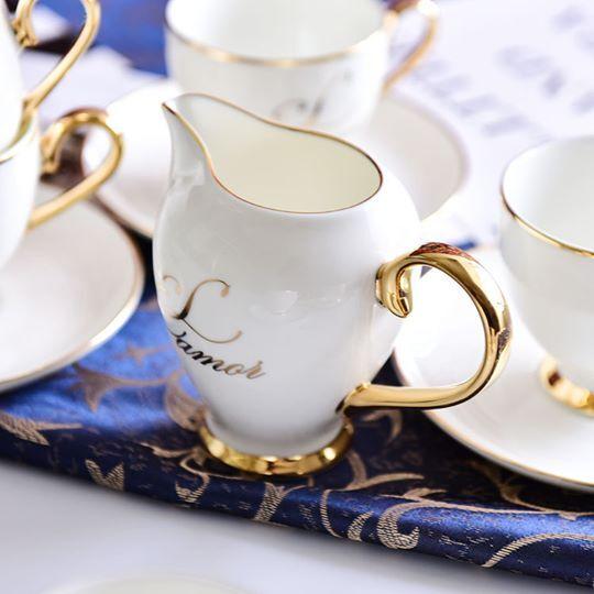 Simple porcelain teacup posh cup and saucer - Cheap antique tea cups