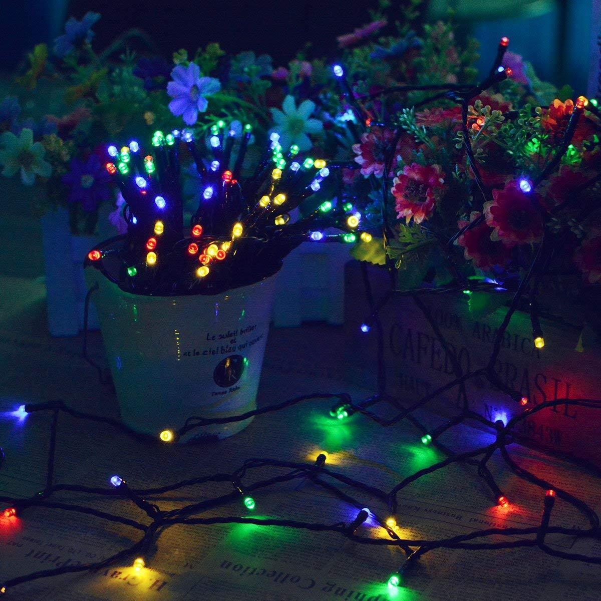 solar string lights 2 pack lights 72ft 22m 200 led solar powered starry lighting