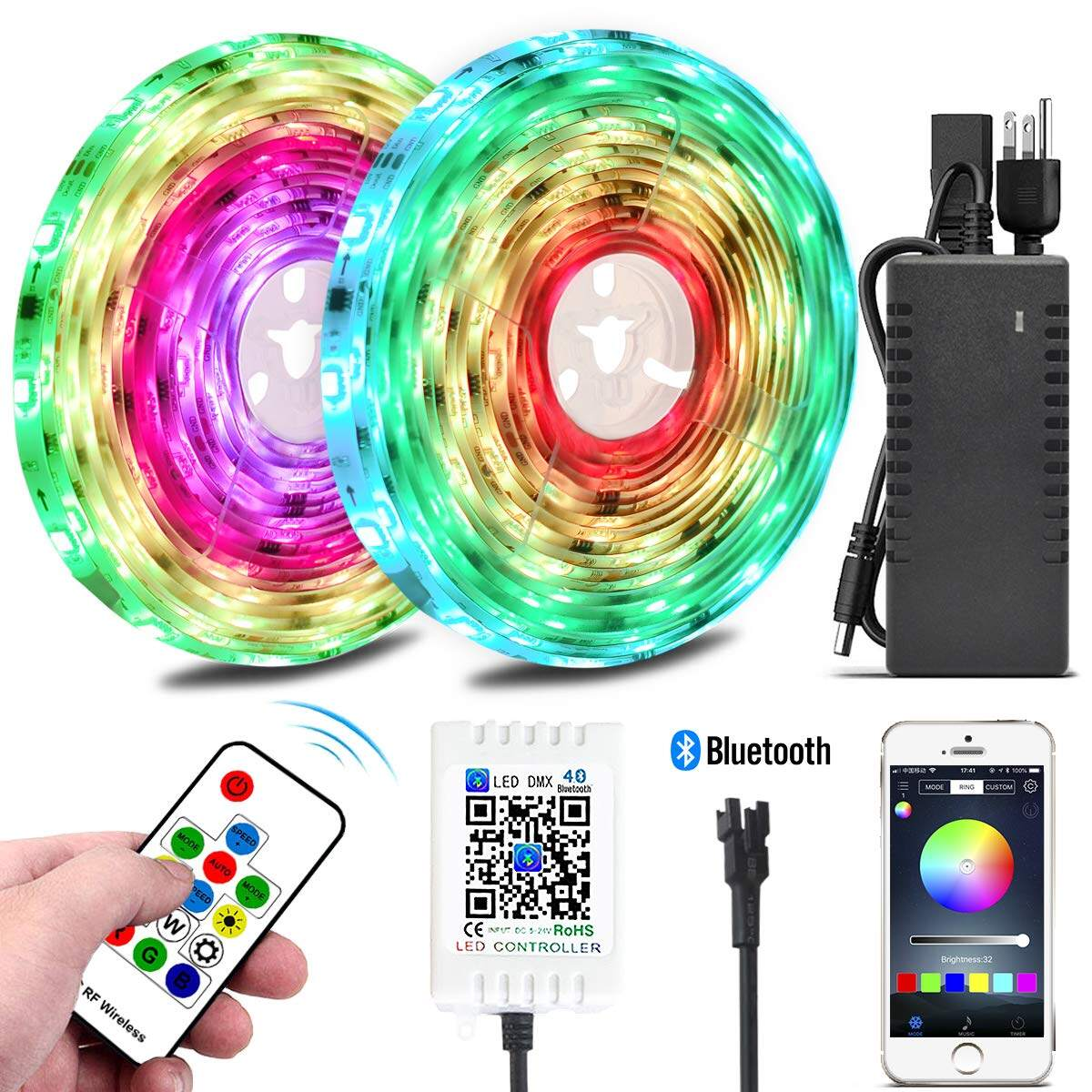 Color Chasing Led Strip Light Kits 10m 32 8ft Rainbow