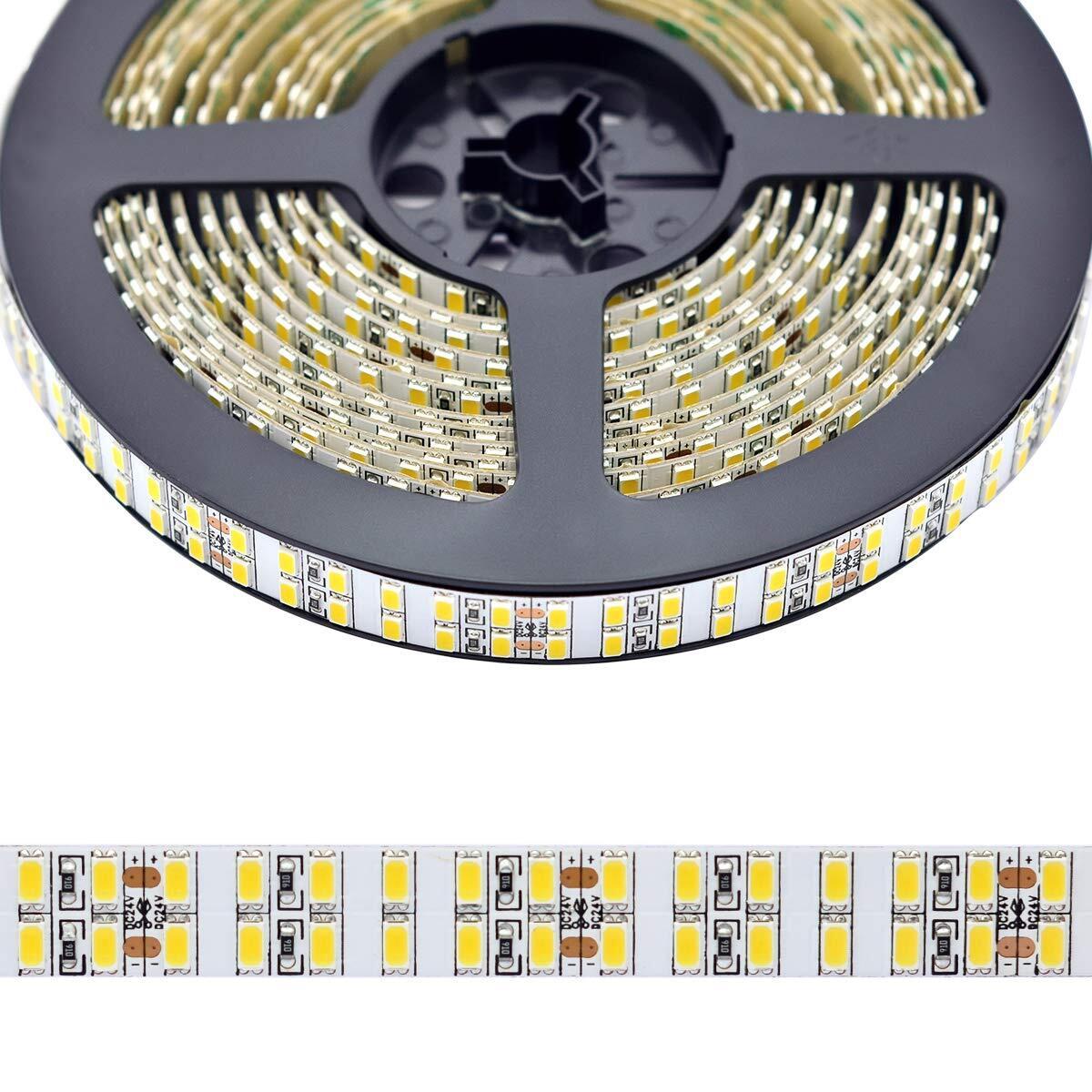 Dual Row Flexible Led Strip Lights Cri 95 Dc24v 5630smds 1200 Leds 5m 16 4ft Super Bright Led